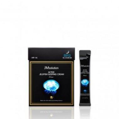 JMsolution Маска ночная увлажняющая с медузой - Active jellyfish sleeping cream prime, 4мл*30шт