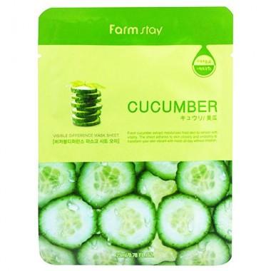 FarmStay Маска тканевая с экстрактом огурца - Visible difference mask dheet cucumber, 23мл