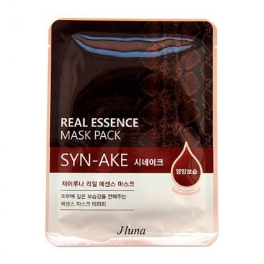 Juno Маска тканевая с пептидом змеиного яда - Syn-Ake real essence mask pack, 25мл