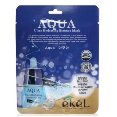 Ekel Маска для лица тканевая ультраувлажняющая - Essence mask aqua, 25г