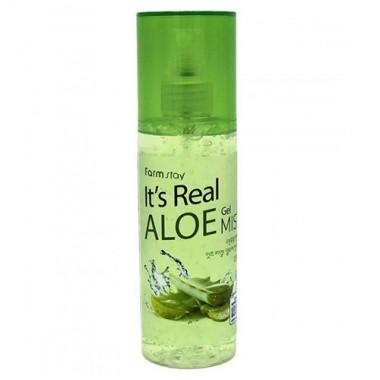 Гель-спрей для лица с экстрактом алоэ, 120 мл — It's Real Aloe Gel Mist