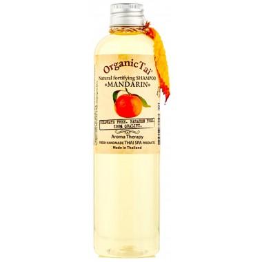 Безсульфатный шампунь для волос с мандариновым маслом, 260 мл — Natural Fortifying Shampoo Mandarin