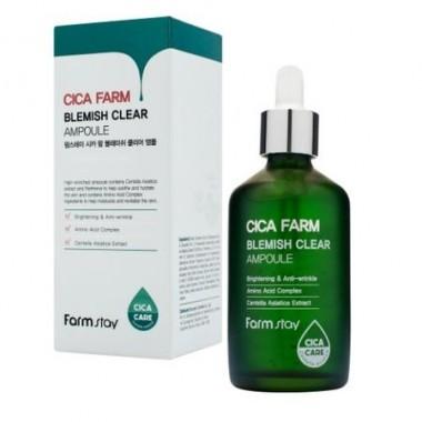 Высокоактивная ампульная эссенция с центеллой азиатской против несовершенств кожи, 100 мл — Cica Farm Blemish Clear Ampoule