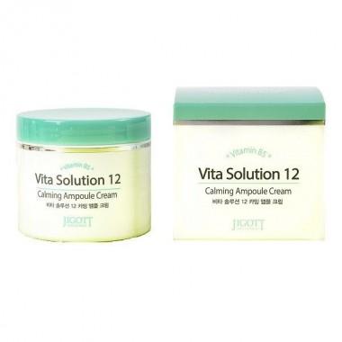Jigott Крем успокаивающий ампульный - Vita solution 12 calming ampoule cream, 100мл