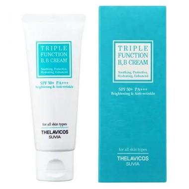 BB-крем с лотосом 3в1, 40 г — Suvia triple function BB cream brightening & anti-wrinkle