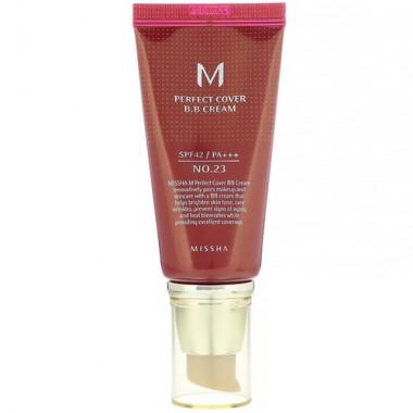 Missha BB-крем для лица тон 23 - Perfect cover bb cream rx spf42/pa++ №23, 50мл