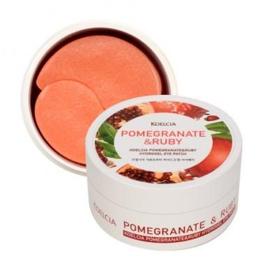 Гидрогелевые патчи для области вокруг глаз с экстрактом граната и рубиновой пудрой, 60 шт — Pomegranate&Ruby Hydrogel Eye Patch
