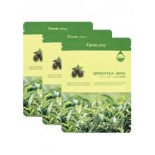 Набор тканевых масок для лица с экстрактом семян зеленого чая, 23 мл*5 шт