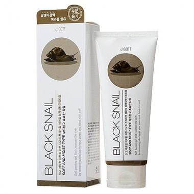 Гель-пилинг с экстрактом слизи черной улитки, 180 мл — Premium facial black snail peeling gel