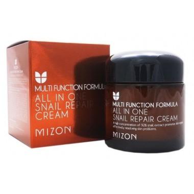 Mizon Крем восстанавливающий с экстрактом улитки - All in one snail repair cream, 75мл
