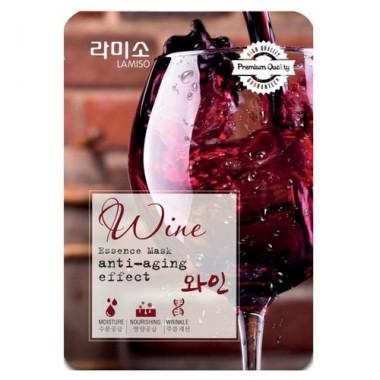 La Miso Маска с экстрактом красного вина - Wine essence mask sheet, 23г