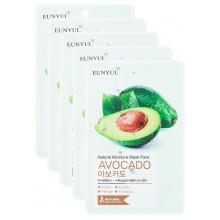 Набор тканевых масок с экстрактом авокадо, 22 мл*5 шт