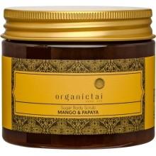 Скраб для тела на основе тростникового сахара с экстрактом манго и папайи, 200 мл