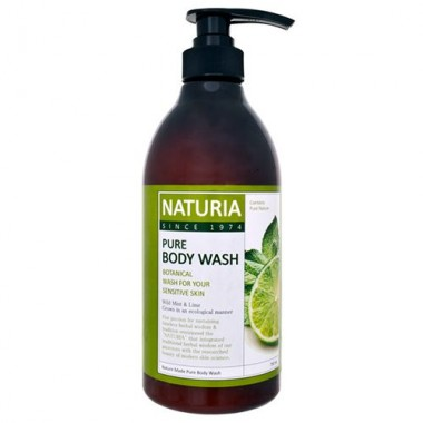 Гель для душа мята/лайм, 750 мл — Pure body wash wild mint & lime