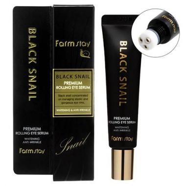 Cыворотка для кожи вокруг глаз с муцином улитки, 25 мл — Black Snail Premium Rolling Eye Serum