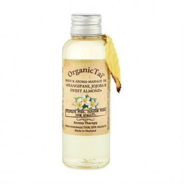 Массажное масло для тела, франжипани, жожоба и сладкий миндаль, 120 мл — Body & Aroma-Massage Oil Frangipani, Jojoba & Sweet Almond