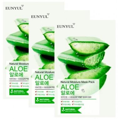 НАБОР: Маска тканевая с экстрактом алоэ, 22 мл*3 шт — Natural Moisture Mask Pack Aloe