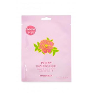 Восстанавливающая тканевая маска с экстрактом пиона — Flower Mask Sheet Peony