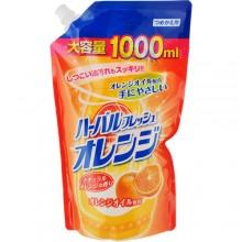 Средство для мытья посуды, овощей и фруктов с апельсином запасной блок, 1000 мл