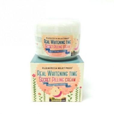 Elizavecca Крем для лица с эффектом пилинга - Real whitening time secret pilling cream, 100г