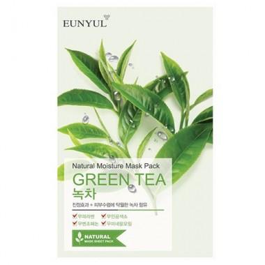 Маска тканевая с экстрактом зеленого чая, 22 г — Natural Moisture Mask Pack Green Tea