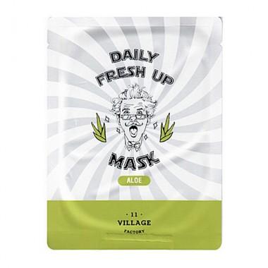 Village 11 Factory Маска для лица тканевая с экстрактом алоэ - Daily fresh up mask aloe, 20г