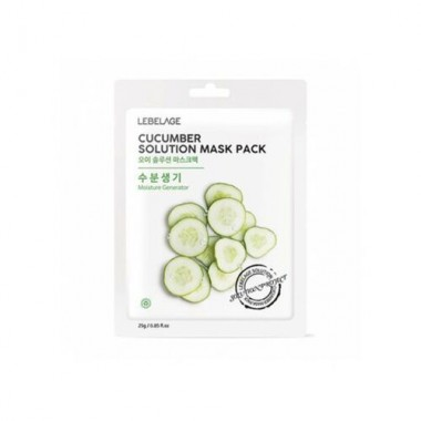 Маска тканевая с огурцом, 25 г — Cucumber solution mask pack