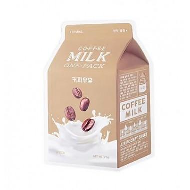 Маска тканевая йогуртовая с экстрактом кофе, 21 г — Coffee milk one-pack