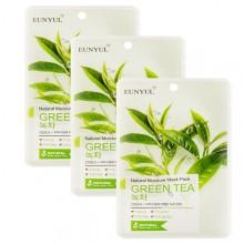 Набор масок тканевых с экстрактом зеленого чая, 22 мл*3 шт