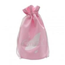 Мешок сувенирный светло-розовый 34х25 см