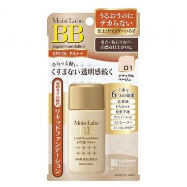 Meishoku Жидкая тональная основа(тон№1, натур. беж) - Moist-labo bb liquid foundation, 25мл