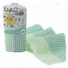 Мочалка-полотенце для детей зеленая, 1 шт