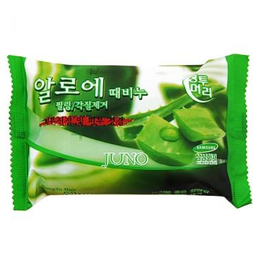 Juno Мыло с отшелушивающим эффектом с алоэ - Aloe peeling soap, 150г