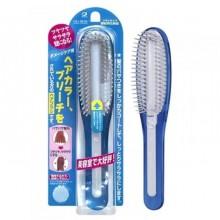 Расчёска с силиконовым стержнем, для поврежденных волос, голубая, 1 шт