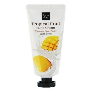 FarmStay Крем для рук тропические фрукты - Tropical fruit hand cream mango and shea butter, 50мл