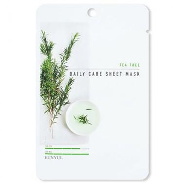 Eunyul Маска тканевая для лица с экстрактом чайного дерева - Tea tree daily care sheet mask, 22г