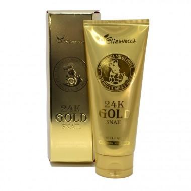 Пенка для умывания с муцином улитки и золотом, 180 мл — 24K Gold snail cleansing foam