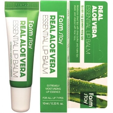 Бальзам для губ суперувлажняющий с алоэ вера, 10 мл — Aloe Vera Essential Lip Balm
