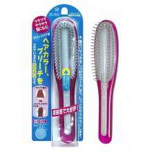 Расчёска с силиконовым стержнем, для поврежденных волос, розовая, 1 шт