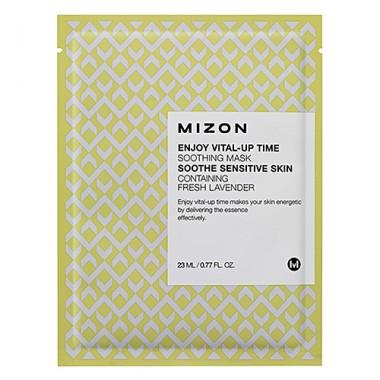 Mizon Маска для лица тканевая успокаивающая - Enjoy vital up time soothing mask, 30мл