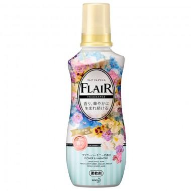 KAO Кондиционер-смягчитель для белья цветочный - Flair fragrance flower & harmony, 570мл