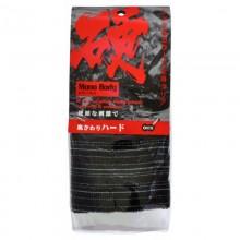 Мочалка для тела сверхжесткая, черная в полоску, 28х120 см, 1 шт