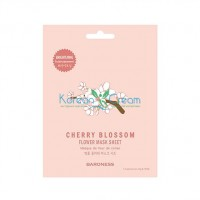 Тканевая маска для лица с экстрактом вишни Flower Mask Sheet Cherry Blossom BARONESS