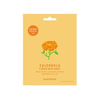 Тканевая маска для лица с календулой Flower Mask Sheet Calendula BARONESS