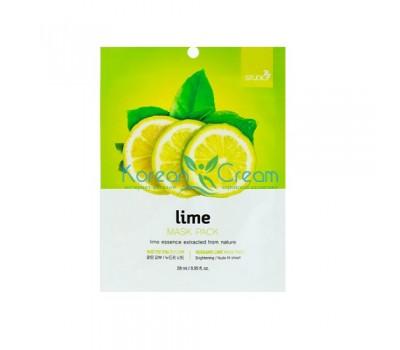 Тканевая маска для лица с экстрактом лайма Lime Mask Pack BERGAMO