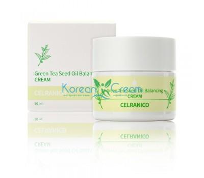Балансирующий крем с семенами зеленого чая Green Tea Seed Oil Balancing Cream CELRANICO, 50 мл