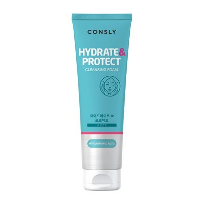 "Пенка для умывания увлажняющая с гиалуроновой кислотой Hyaluronic Acid Cleansing Foam ""Hydrate&Protect"" CONSLY, 120 мл"