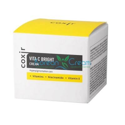 Крем выравнивающий тон кожи с витамином С Vita C Bright Cream COXIR, 50 мл