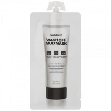 Маска с глиной и морской солью для глубокого очищения пор Wash Off Mud Mask DerMeiren, 30 гр
