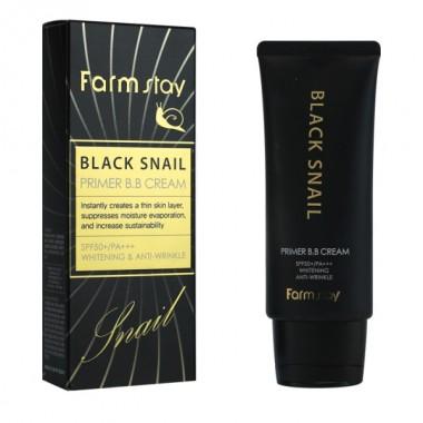 ББ крем с муцином черной улитки SPF50+/PA+++ Black Snail Primer B.B Cream FarmStay, 50 гр